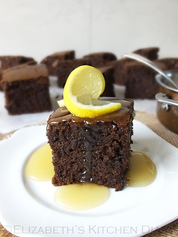 Warm Gingerbread Cake with Lemon Sauce