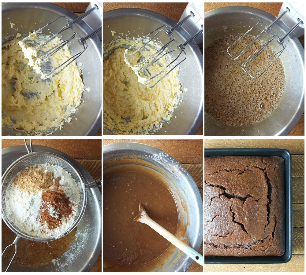 how to make gingerbread cake step by step