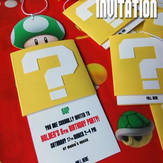 4e758177ac19 DIY Super Mario Birthday Party Invitation  A Step-by-Step Tutorial ...