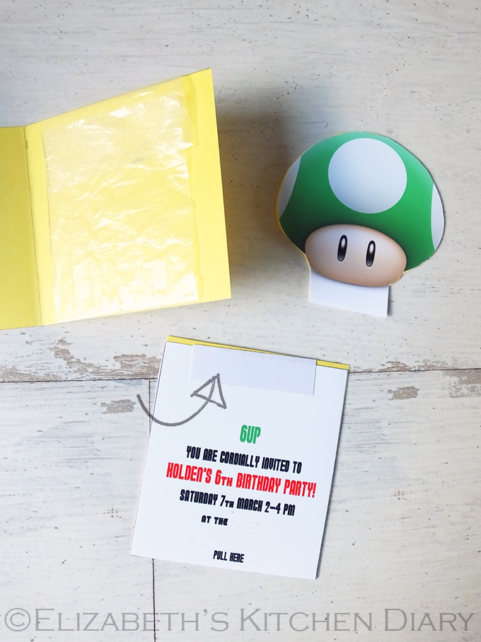 Super Mario Birthday Party Invitation Tutorial Step 11