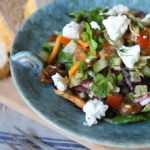 Crete Summer Salad with Figs & Goats Cheese