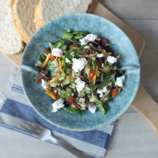 Cretan Summer Salad with Figs & Goats Cheese