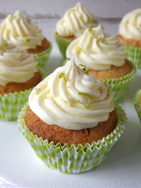 Lime Cupcakes with Lime Buttercream Frosting
