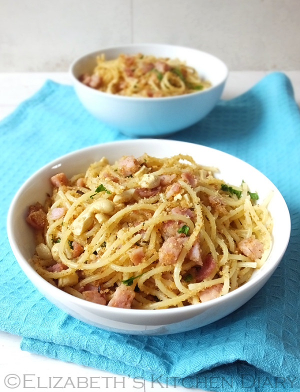 Spaghetti with Bacon & Crispy Breadcrumbs