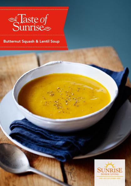 Butternut Squash & Lentil Soup