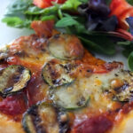 Chorizo and Grilled Vegetable Pizza