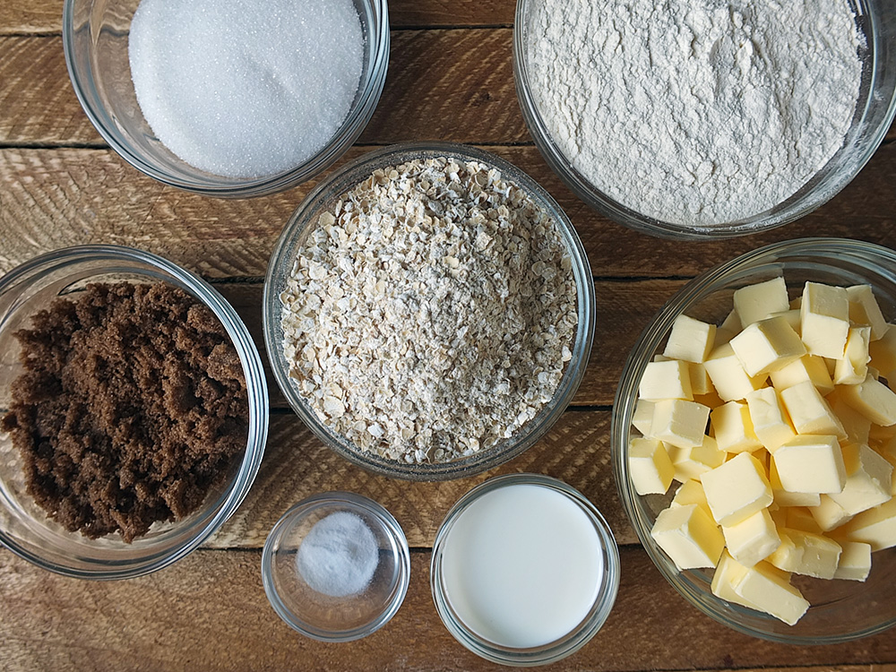 Ingredients for cape breton oatcakes recipe