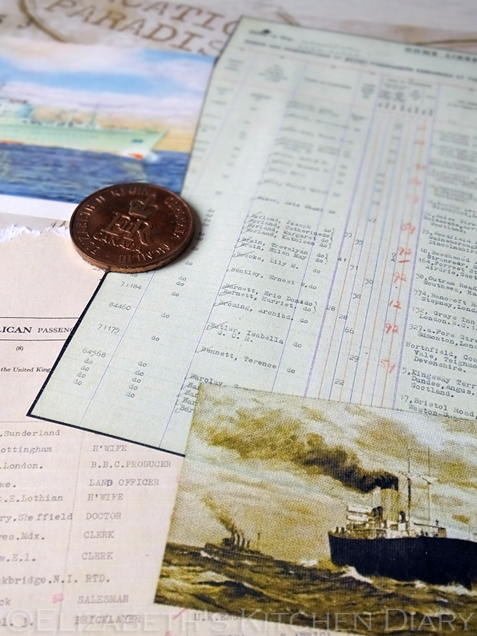 Passenger Lists Scrapbook Page