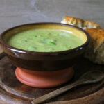 Broad Bean & Courgette Soup with Gouda