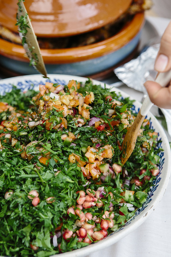 Pomegranate and Walnut Salad - Amina's Home Cooking