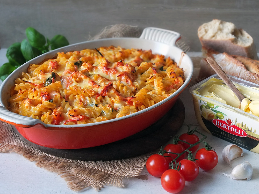 Creamy Chicken Cherry Tomato Pasta Bake Elizabeth S Kitchen Diary