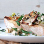 Scrambled Tofu on Truffled Sourdough Bruschetta