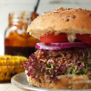 BBQ Iron Age Pork Burger with Sticky 5 Spice BBQ Sauce