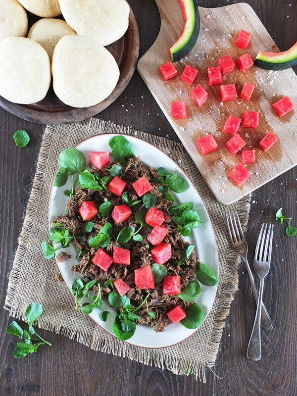 Jerk Pulled Pork & Watermelon Salad