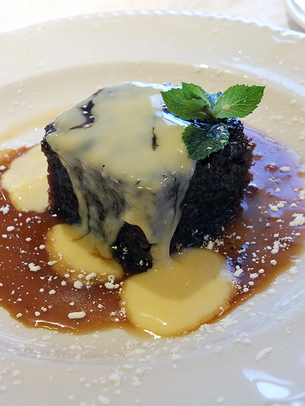 The Brasserie Sticky Toffee Pudding