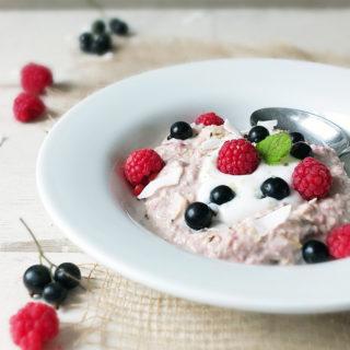 Dorset Cereals Bircher Museli with Raspberries, Blackcurrants and Coconut