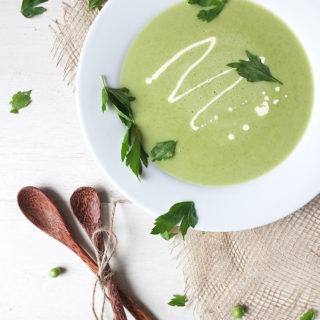 Pea, Potato & Lovage Soup - perfect for summer.
