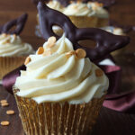 Chocolate Fudge Masquerade Cupcakes with a Bourbon Vanilla Buttercream