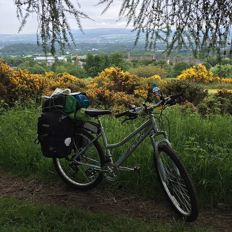 The Great Glen Way - Overlooking Inverness from Dunain Hill