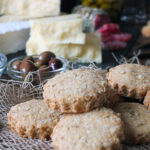 Homemade Rustic Mini Oatcakes - perfect for a cheeseboard!