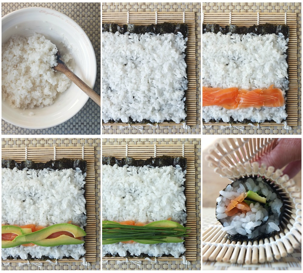 How to assemble maki sushi