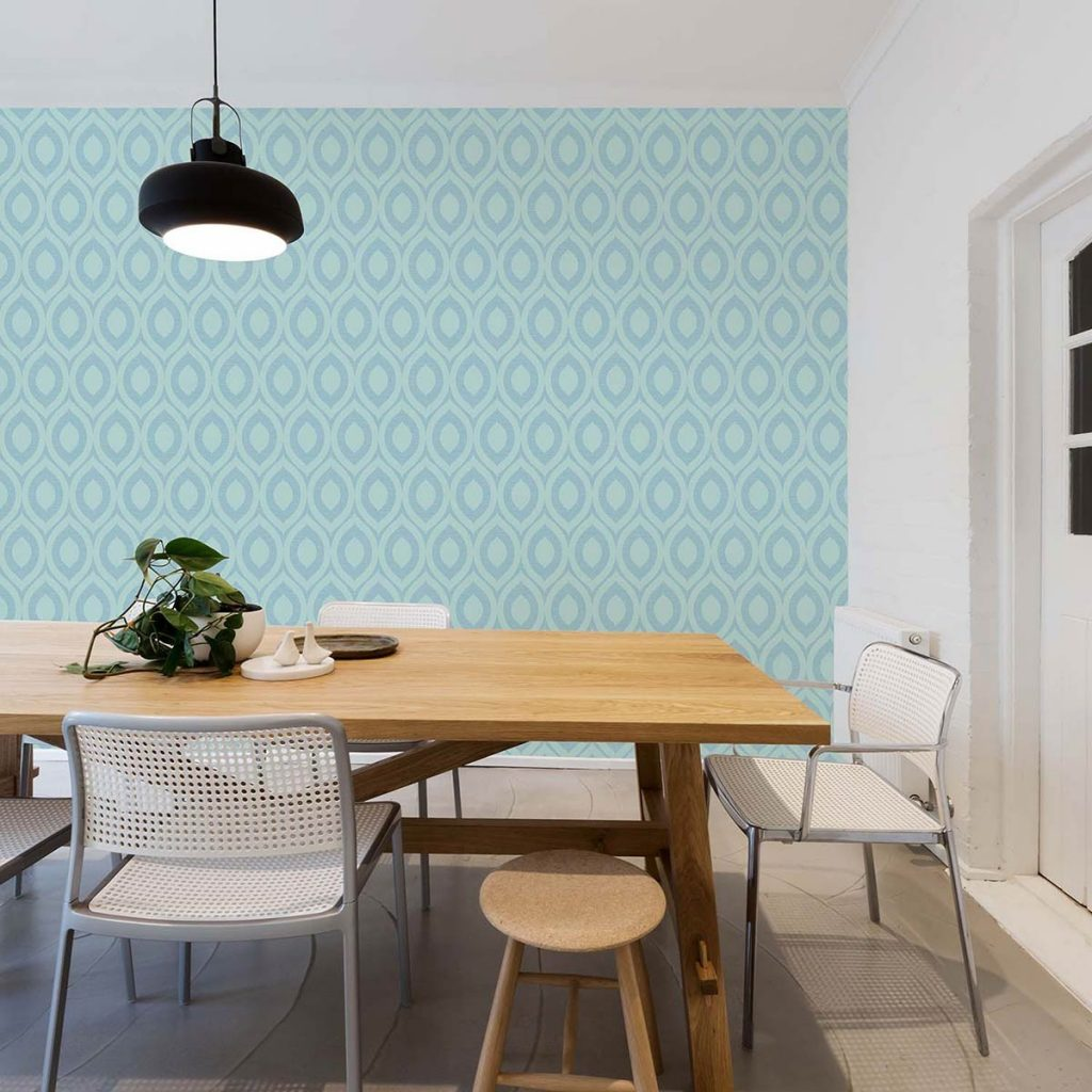 RIMINI DUCK EGG GEOMETRIC WALLPAPER