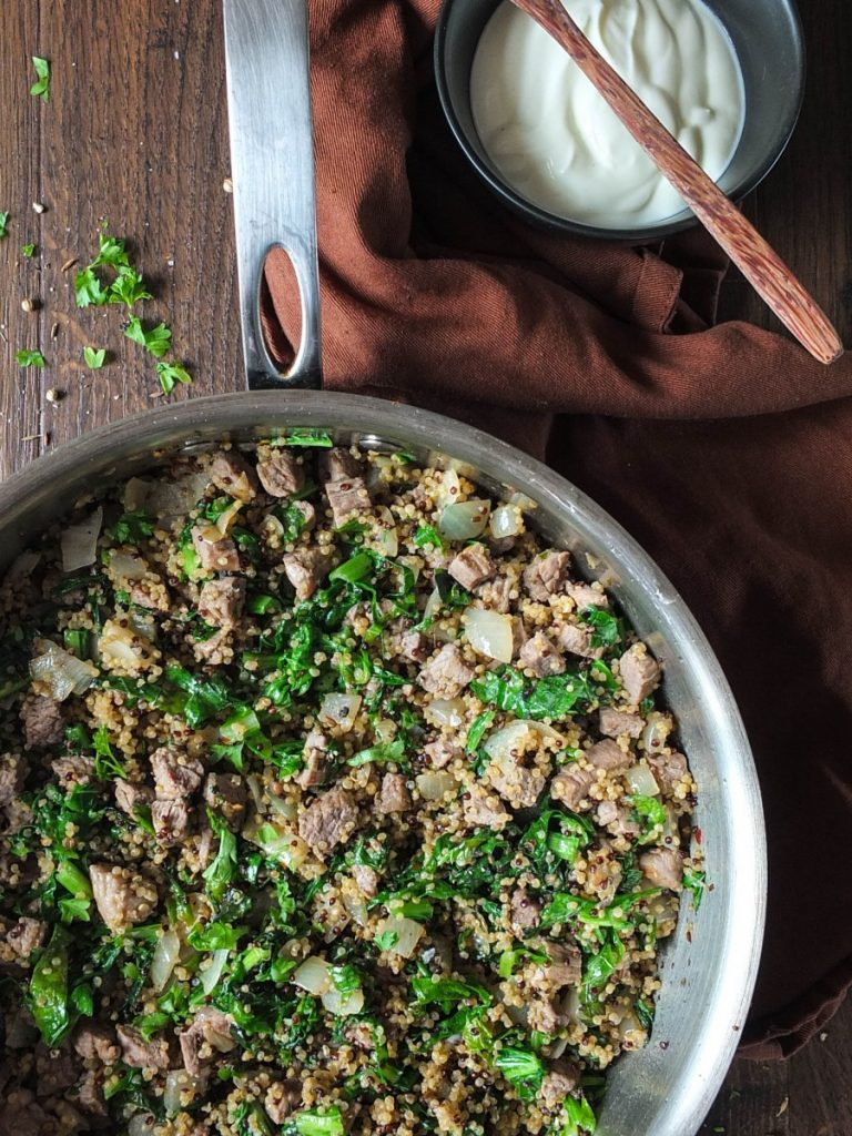 15-Minute Lamb & Quinoa One-Pan Midweek Supper