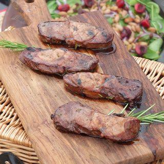 BBQ Lamb Leg Steaks in a Herb Marinade