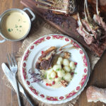 Slow Roasted Rack of Lamb with a Creamy Mustard Tarragon Sauce