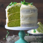 Pea and Vanilla Cake with Lemon Icing by Kate Hackworthy