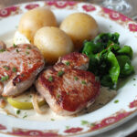 Pan-Seared Pork Tenderloin Medallions with Apples & Fried Sage