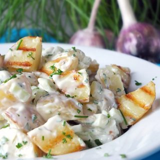 Roasted Garlic and Grilled New Potato Salad