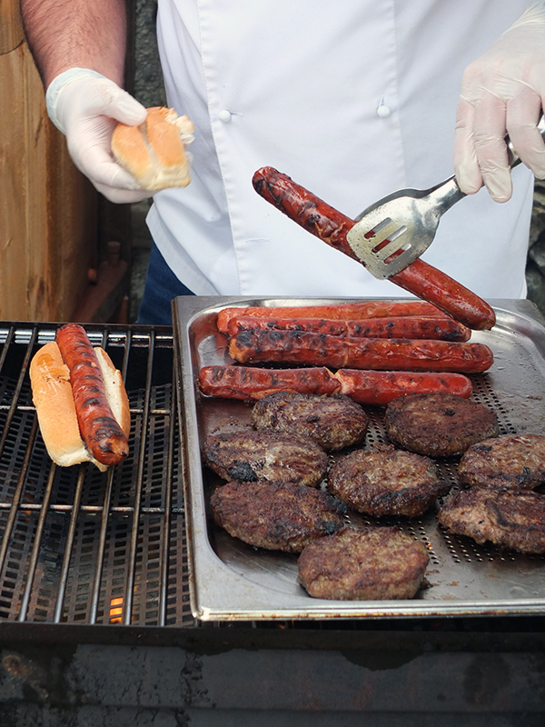 BBQ Hot Dogs and Burgers