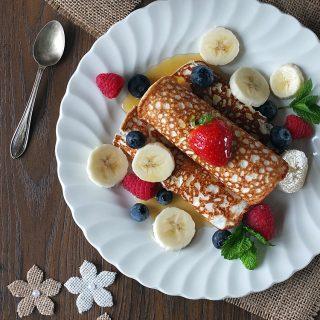 Three-Ingredient High-Protein Gluten-Free Crepes