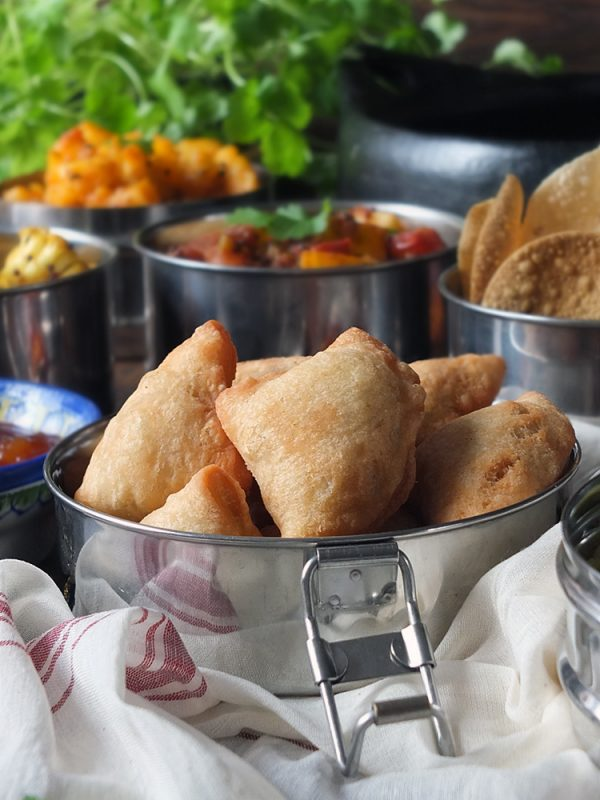Mini Lamb, Pea and Potato Samosas
