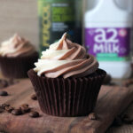 Chocolate & Coffee Cupcakes with Coffee Swirl Frosting