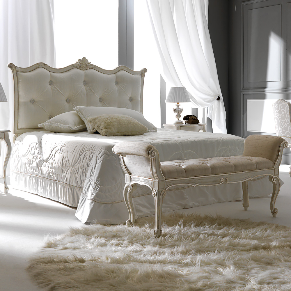 Curved-White-Designer-Italian-Silk-Button-Upholstered-Bed-1