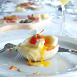Eggs Benedict with Smoked Salmon Tobiko