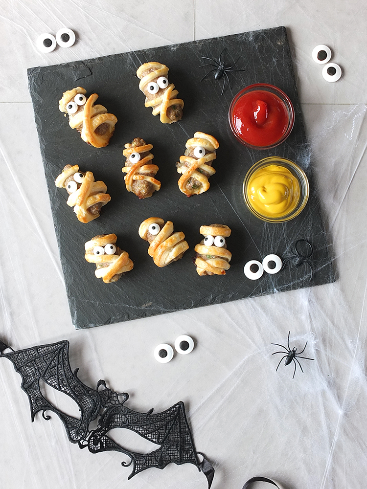 Spooky Halloween Sausage Roll Mummies with Lamb