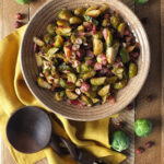 Maple Roasted Brussels Sprouts with Smoked Bacon & Hazelnuts