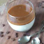 Vanilla Panna Cotta with Coffee Caramel Sauce