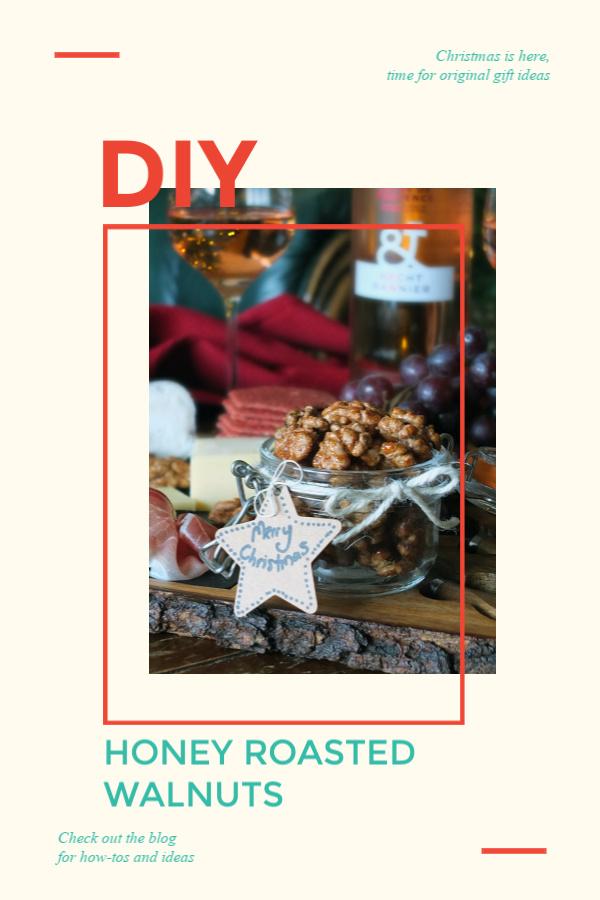 Honey Roasted Walnuts - an edible DIY Christmas Gift #Christmas #walnuts #diygift #walnutrecipe