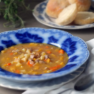 Leftover Roast Lamb and Winter Vegetable Soup