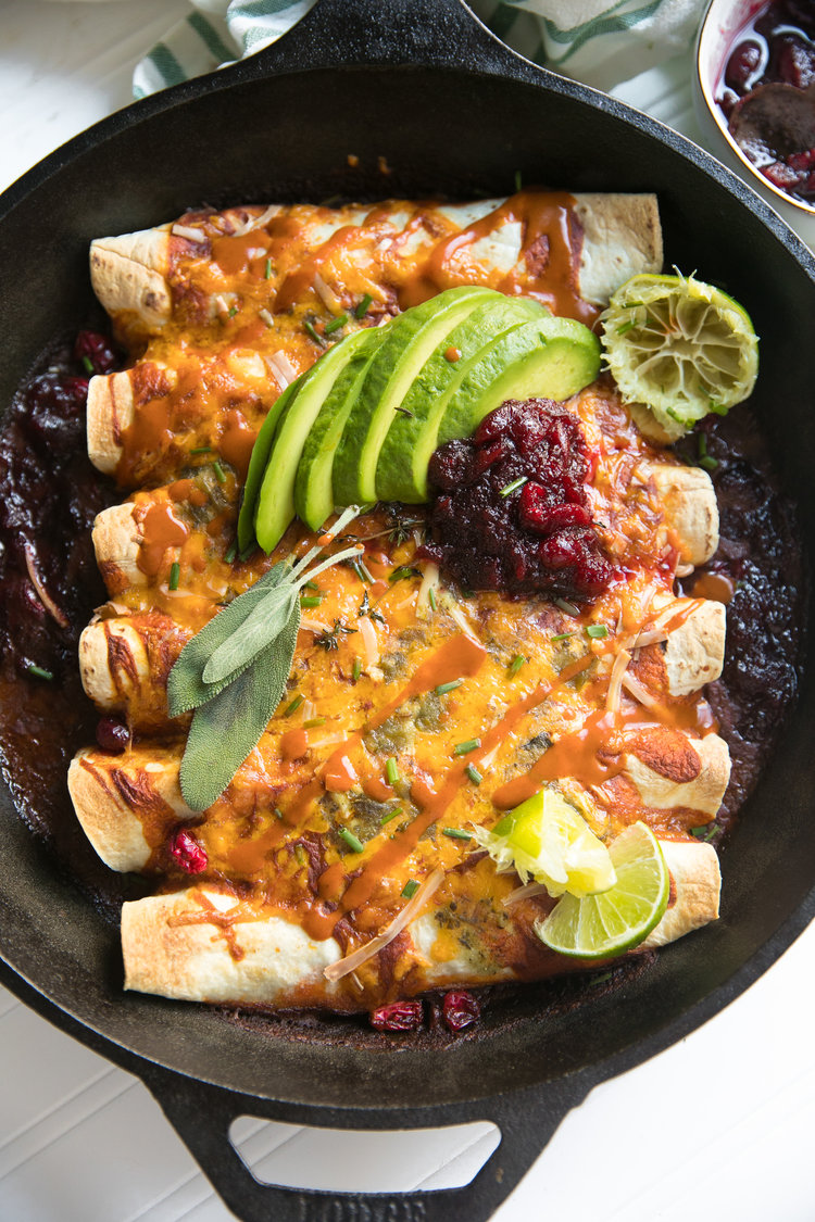 Leftover Turkey Enchiladas by Coffee & Crayons
