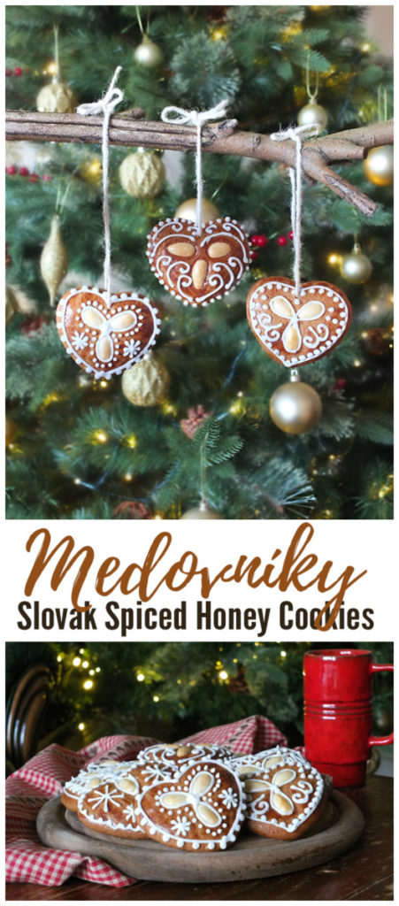 Medovníky: Slovak Spiced Honey Cookies Pinterest Image
