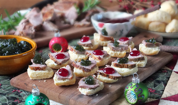 Roasted Lamb & Mini Bannock Christmas Canapés