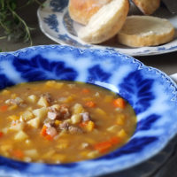 Leftover Roast Lamb & Winter Vegetable Soup