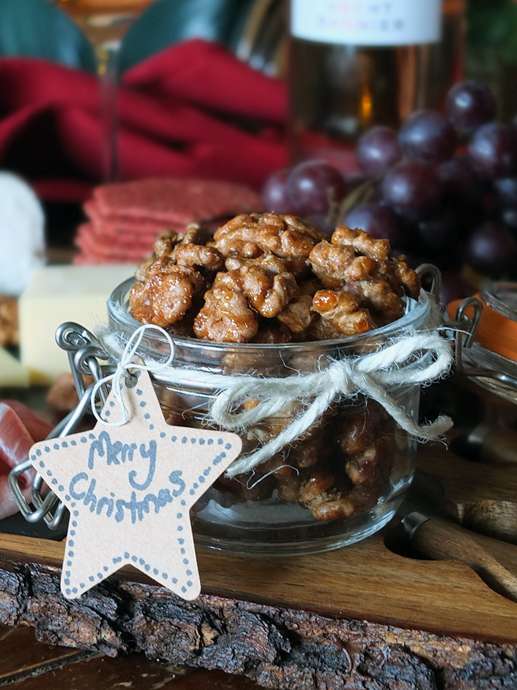 Three Ingredient Honey Roasted Walnuts