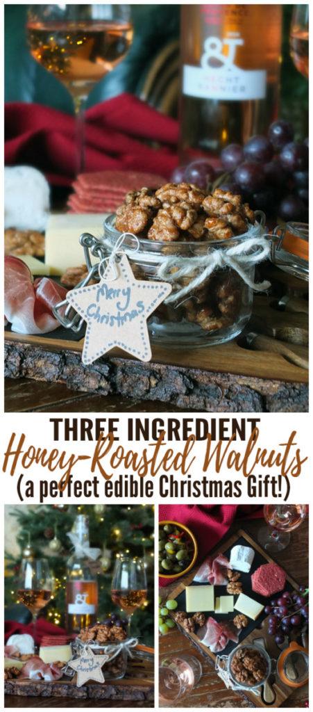 Three Ingredient Honey Roasted Walnuts