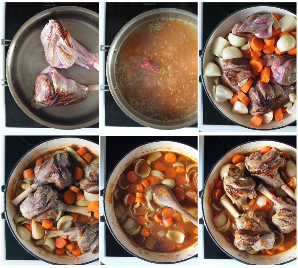how to make slow cooked lamb shanks shanks - step by step
